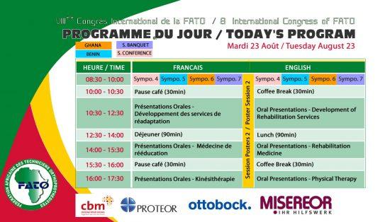 Programme du jour 3 - Mardi