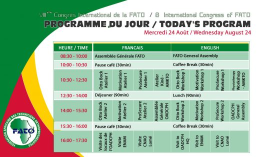 Programme du jour 4 - Mercredi