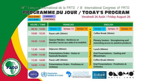 Programme du jour 6 - Vendredi